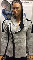 Стильные турецкие свитера кофты косухи с капюшоном