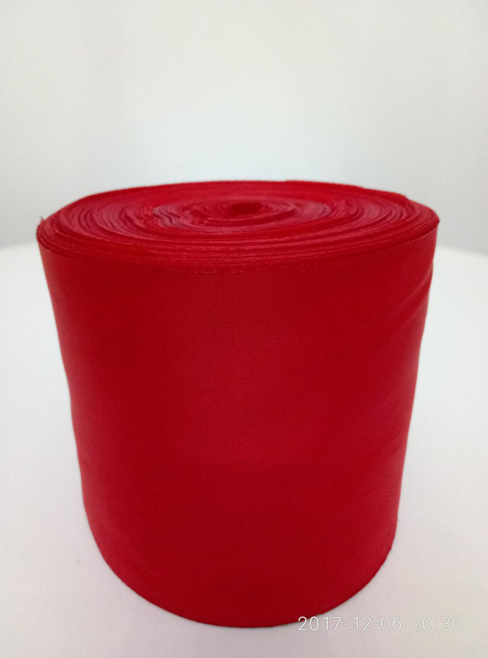 Лента красная шелковая 10см.