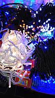 Разноцветная светодиодная новогодняя гирлянда Нить 10м 100LED