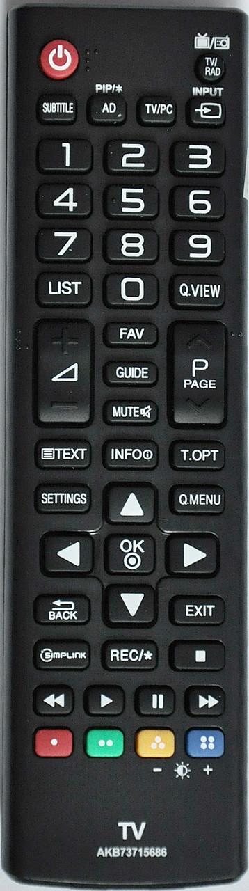 Пульт для телевизора LG. Модель AKB 73715686