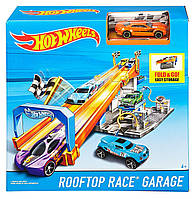 Хот Вилс Машинка Трек и Автомойка Hot Wheels Rooftop Race Garage