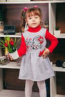 """Теплое платье для девочки. Детское платье с длинным рукавом """"Принцесса-фотограф"""""""