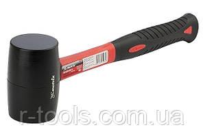 Киянка резиновая 450 г черная резина фибергласовая рукоятка MTX 111859