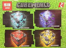 Конструктор Lepin 03046 Майнкрафт Светящиеся блоки 4 вида (аналог Lego Minecraft), фото 2