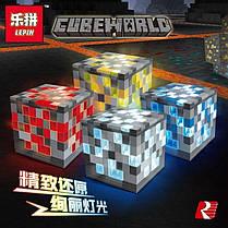 Конструктор Lepin 03046 Майнкрафт Светящиеся блоки 4 вида (аналог Lego Minecraft), фото 3