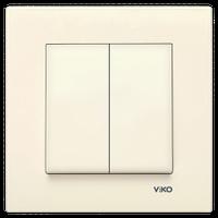 Выключатель 2-клав. VIKO Karre крем