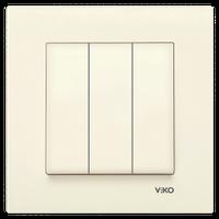 Выключатель 3-клав. VIKO Karre крем