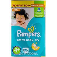 Подгузники для детей PAMPERS Active Baby (Памперс Актив Бэби) Maxi Plus (Макси Плюс) 4 плюс от 9 до 16 кг 96 шт