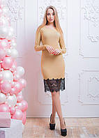 """Женское молодежное  платье с гипюром   """"Блестящее"""" р. 40,42, 44,46"""