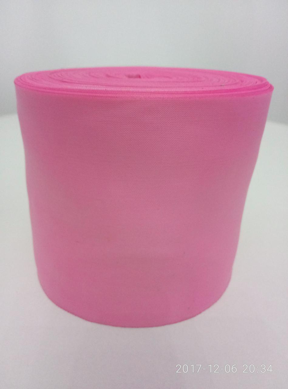 Лента розовая шелковая 10см.