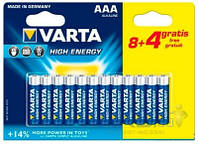 Элемент питания Varta HIGH Energy AAA BLI 12 (8+4) ALKALINE