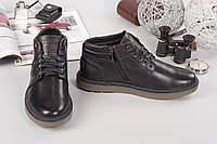 Мужские ботиночки Blackin. Натур. кожа, внутри набивной мех. Высота 8.5см, подошва 3см Прошиты Р-р 40-45 Черны
