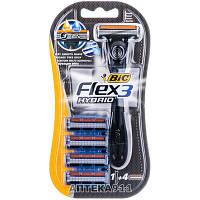 Бритва BIC (Бик) Flex 3 Hybrid (Флекс 3 Гибрид) 1шт + 4 кассеты