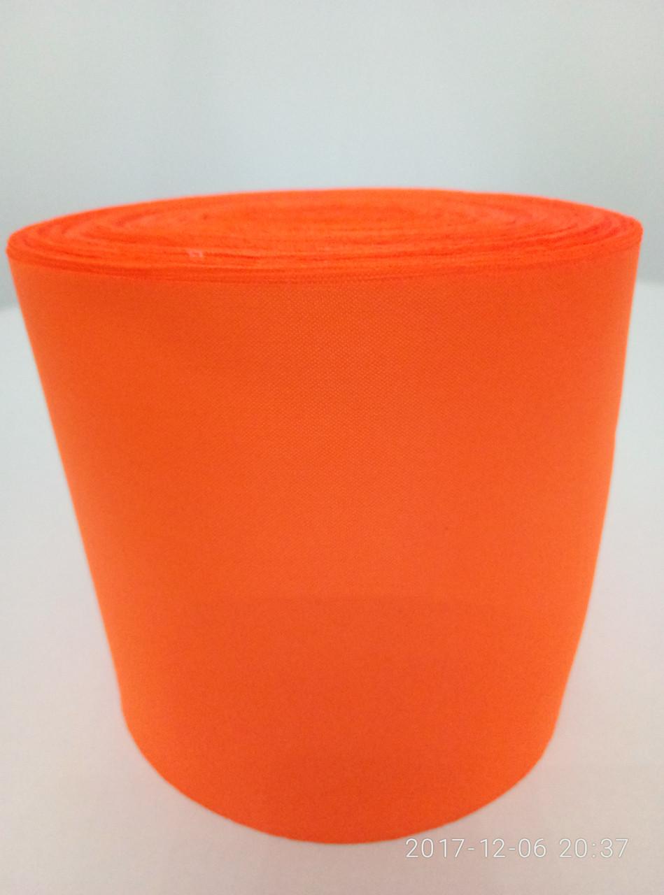Лента оранжевая шелковая 10см.