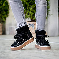 Женские кожаные ботинки на светлой толстой подошве.Ботинки 21525
