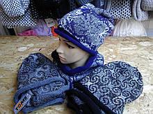 Шапка с шарфиком хомут