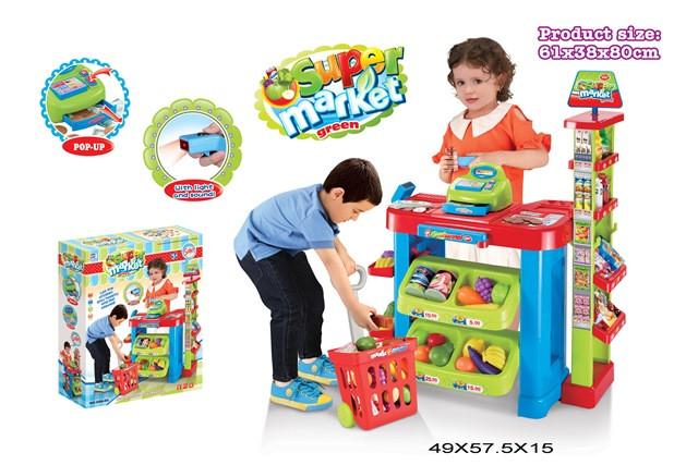 Игровой набор Супермаркет магазин с кассой и тележкой 008-85