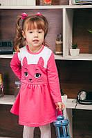"""Теплое платье для девочки. Детское платье с длинным рукавом """"Кошечка"""""""