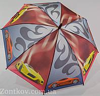 """Детский зонт для мальчика оптом с мотоциклами и машинками на 5-8 лет от фирмы """"SL"""""""