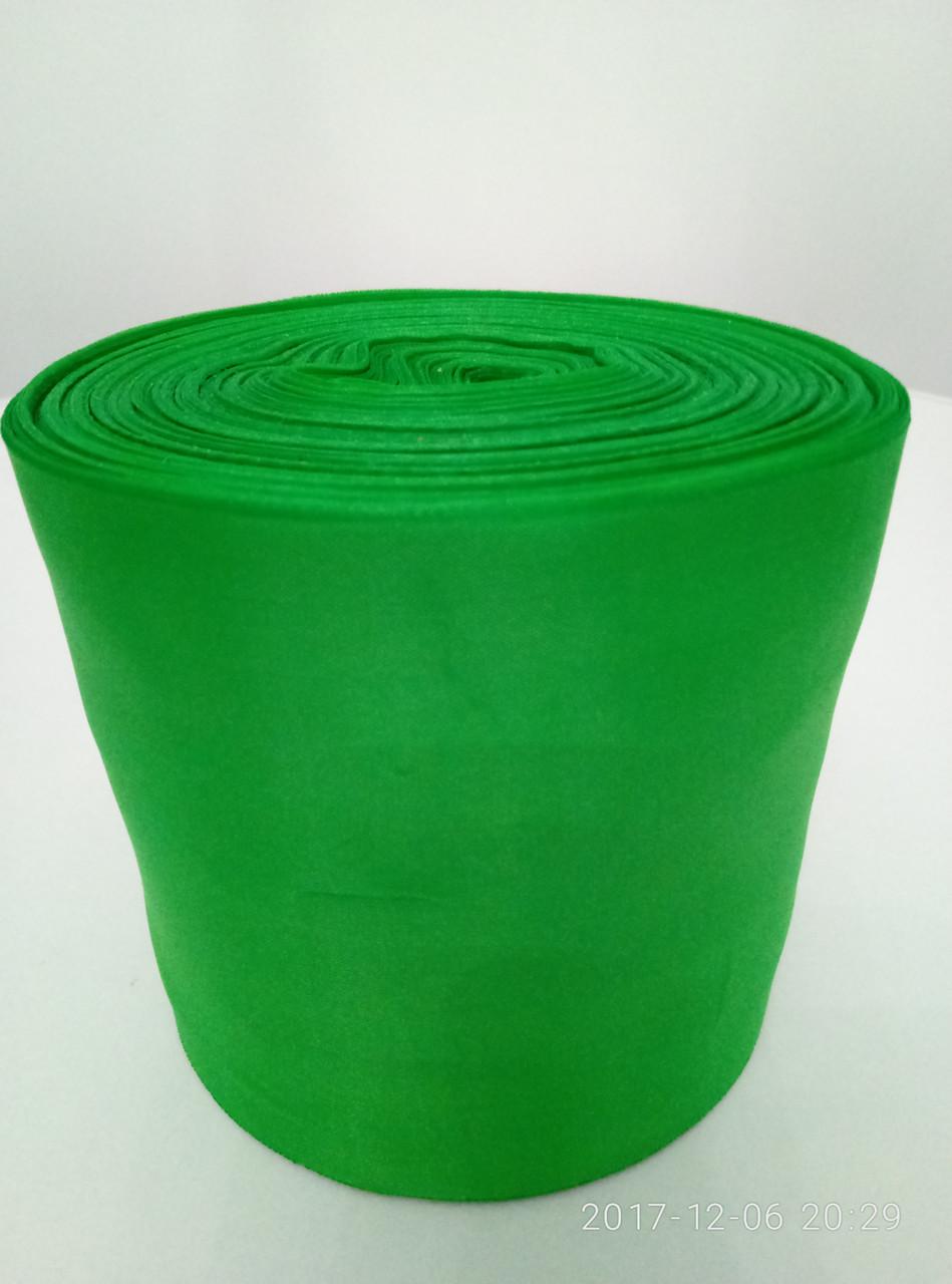 Лента зеленая шелковая 10см.