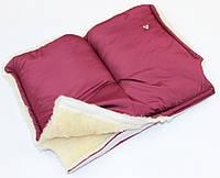 Меховая муфта на детскую коляску или санки (цвета разные) Бардовый