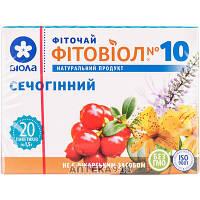 Фиточай Фитовиол №10 Мочегонный в фильтр-пакетах 1,5г 20шт