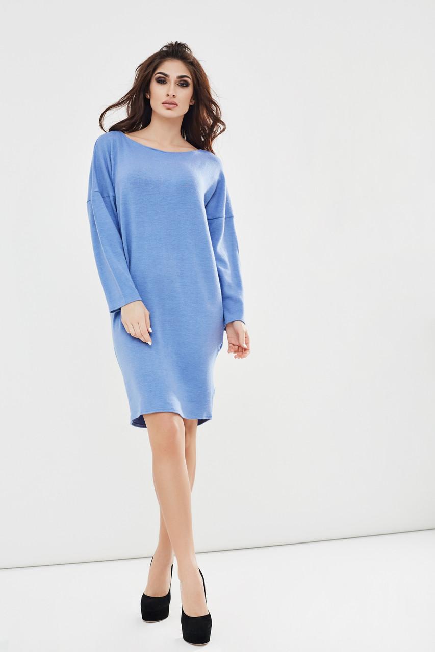 """Теплое ангоровое платье """"Battin"""" с рукавом летучая мышь и вырезом на спине (3 цвета)"""