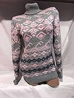 Женский свитер  вязанный акрил (44/50) купить оптом