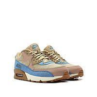 Оригинальные женские кроссовки Nike WMNS Air Max 90 LX Blue / Mushroom