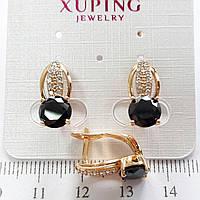 Серьги  Xuping позолоченные длина 1.7см с675