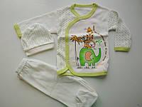 """Подарочный набор для новорожденного """"Слонёнок"""" зеленый"""
