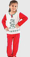 Пижама детская Три снеговика