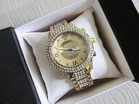 Супер стильные женские часы Versace золото+золотистый циферблат