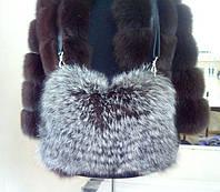 Сумка-муфта из цельной шкуры меха чернобурки высокого качества, фото 1
