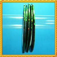 Декор Лента 0,8 мм. Голографическая Зеленый Лазер на Липкой Основе для Дизайна Ногтей .