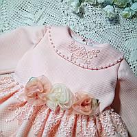 Нарядное детское платье ручной работы