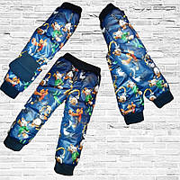 Теплые брюки на флисе для мальчика с Бесплатной Доставкой