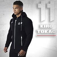 Япония. Спортивный костюм Kiro tokao 174 черно-белый  46 размер