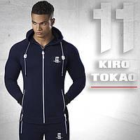 Спортивный костюм. Япония Kiro tokao 174 т.синий-белый  46 размер