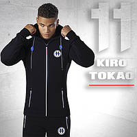 Японский спортивный костюм для мужчин Kiro tokao 183 черный-электрик 46 размер