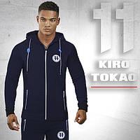 Брендовый спортивный костюм Kiro tokao 183 т.синий-электрик 46 размер
