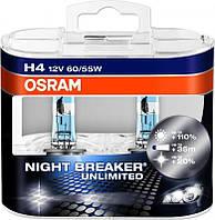 Лампа галогенная 12V H4 P43t 60/55W NIGHT BREAKER Unlimited +110% OSRAM