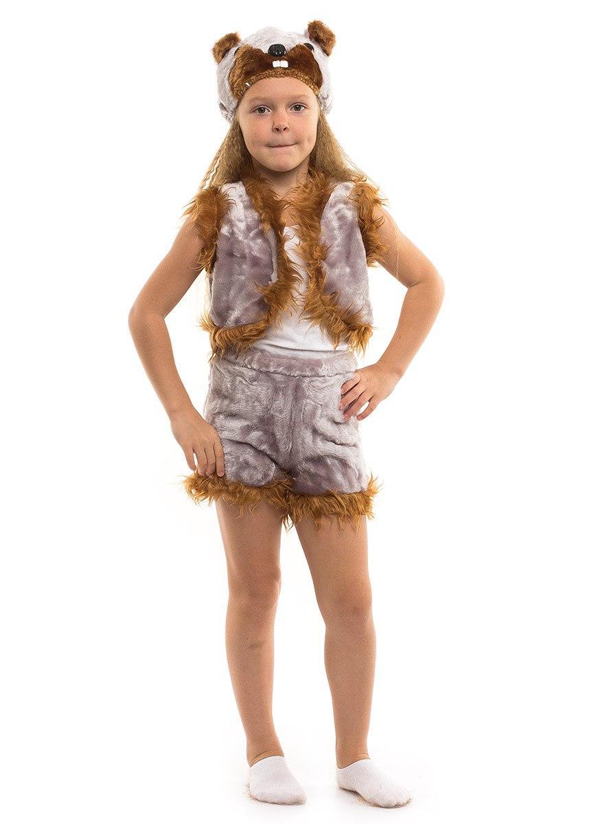 Детский карнавальный костюм Бобра мех (3-7 лет)