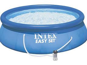 Бассейн надувной Intex 28132 (366х76 см.)  с фильтр-насосом, фото 2