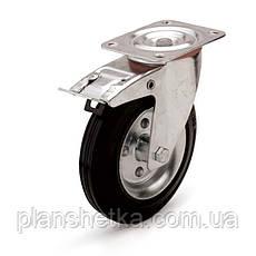 "Колесо поворотное  с тормозом и площадкой 160х60 - 20 мм  ""Ekonom"", фото 3"