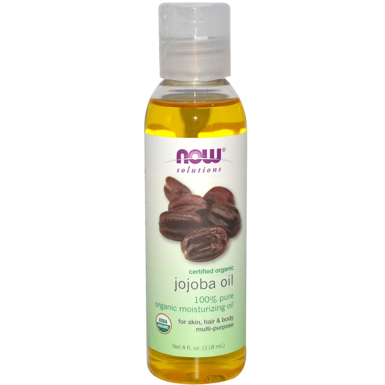 Масло Жожоба Now Foods Solutions Certified Organic Jojoba Oil