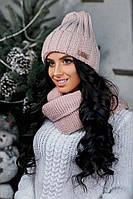 """Красивая теплая женская шапка на флисе """"Арина"""""""