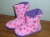 Тёплые сапожки-ботиночкки домашние женские велюровые