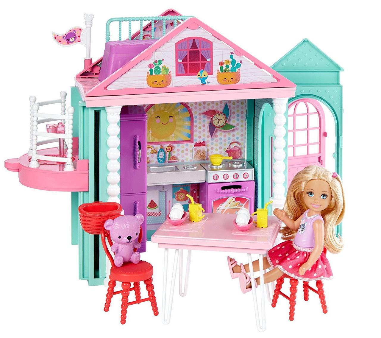 Барби Домик развлечений Челси Barbie с лифтом Barbie Club Chelsea Playhouse