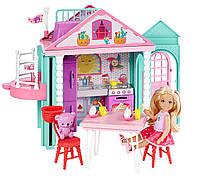 Набор Барби Домик развлечений Челси с лифтом Barbie Club Chelsea Playhouse Playset